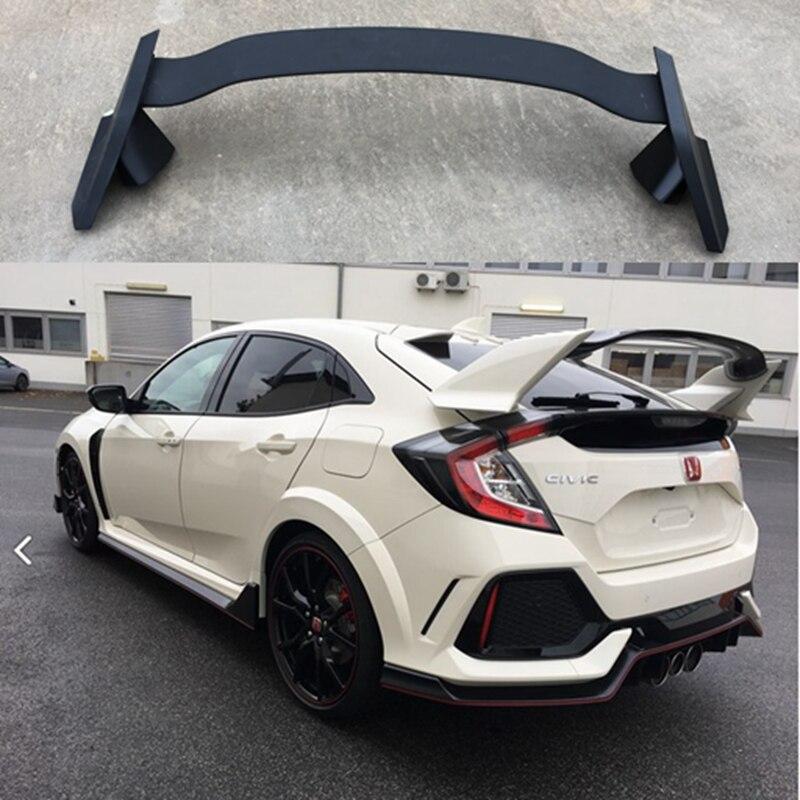 Для Honda CIVIC хэтчбек спойлер 2017 2018 ABS пластик Неокрашенный праймер цвет задний багажник загрузки крыло спойлер автомобильные аксессуары