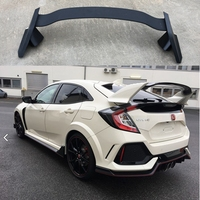For Honda CIVIC hatchback Spoiler 2017 2018 ABS Plastic Unpainted Primer Color Rear Trunk Boot Wing Lip Spoiler Car Accessories