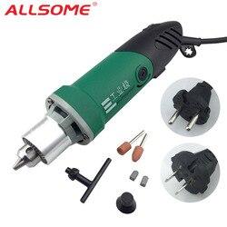 ALLSOME 30000RPM 480W High Power Mini wiertarka elektryczna grawer z 6 pozycją zmienna prędkość dla Dremel narzędzia obrotowe HT2419 2420 Wiertarki elektryczne Narzędzia -