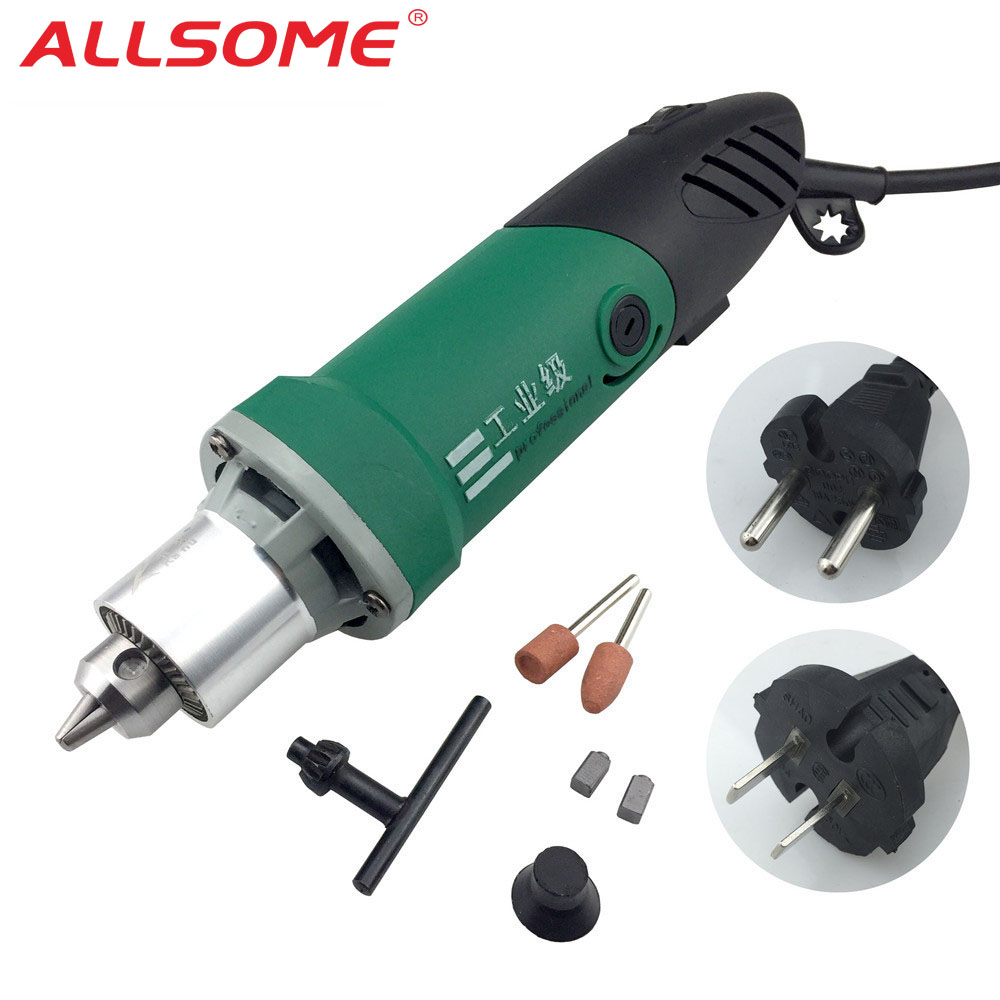 ALLSOME 30000RPM 480W High Power Mini Electric Drill Engraver With 6 Position Variable Speed For Dremel Rotary Tools HT2419-2420