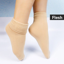 2017 cashmere Silk padded  womens cotton thermal socks 1 pairs