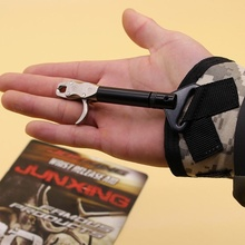 Hunting arrow archery Accessories Bow Releases,Adjustable strap,for shooting practice with trigger wrist strap steel caliper