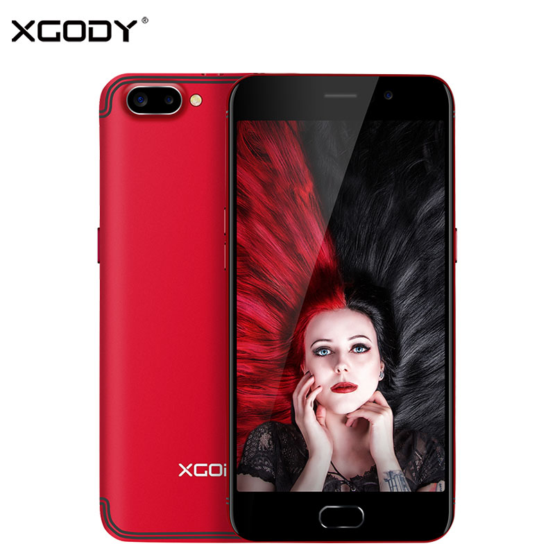 XGODY 3G Unlock Dual Sim Smart Phone Android 5.1 MTK6580 Quad Core 1G + 16G Smartphone 5.5 Pollice Trasporto Shockproof Cellulare caso