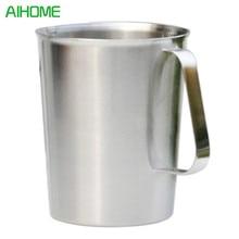 500-1000 мл из нержавеющей стали Градуированные стеклянные мерные стаканчики для жидкости для приготовления пищи посуда для кофе кухонный винный бокал для баров инструмент