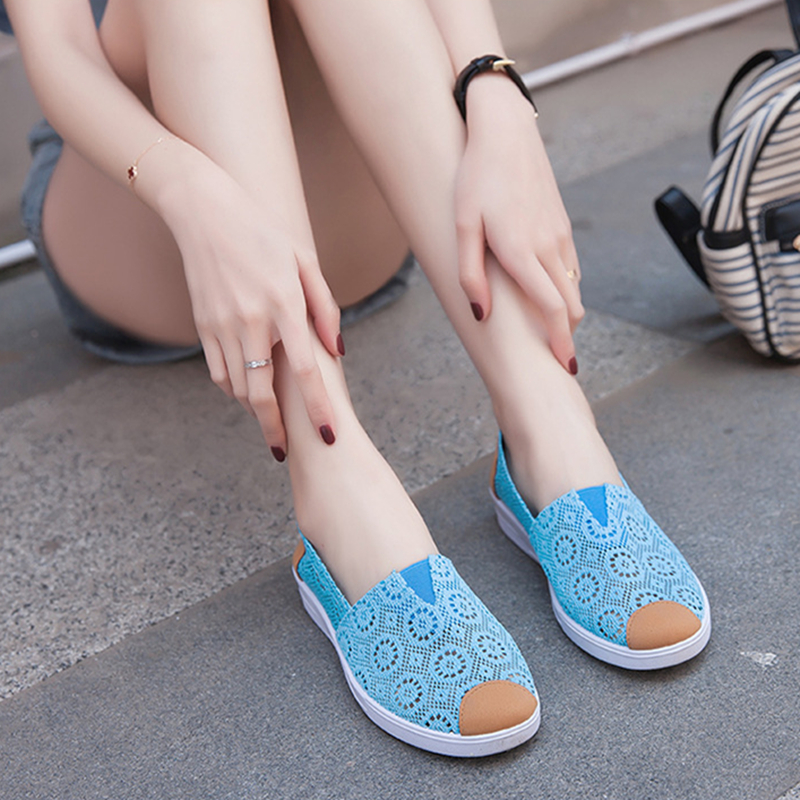 Woman Shoes Summer Casual Cutouts Lace Canvas Shoes White&Black Hollow Floral Breathable Platform Flat Shoe summer women shoes casual cutouts lace canvas shoes hollow floral breathable flat platform shoe ladies sapato feminino