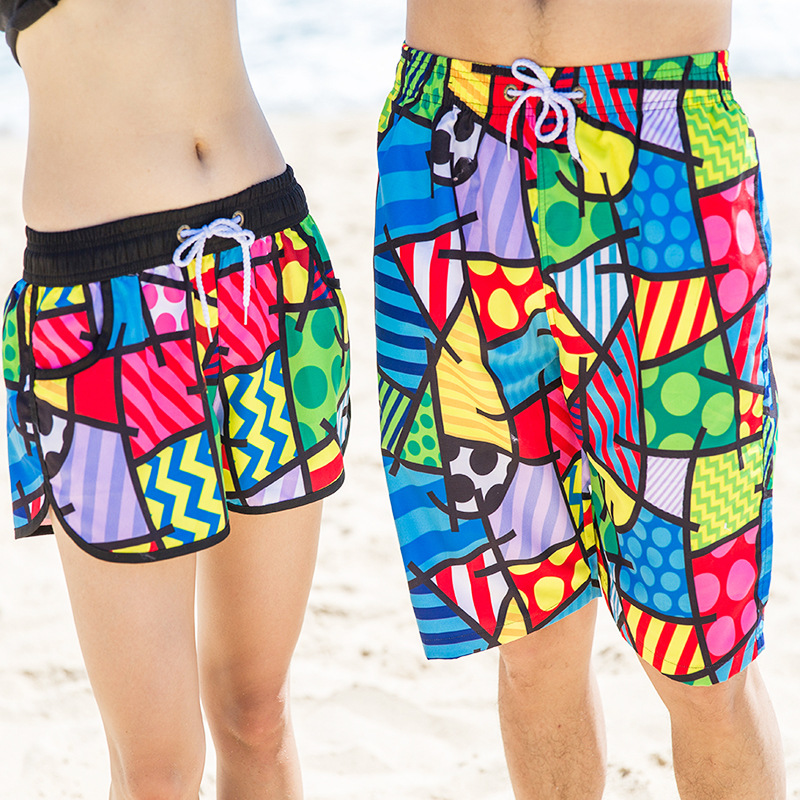 Mens and Women Summer Quick Dry Beach Shorts Casual Clothing Printing Shorts  Men\u0027s Sea Board Beach Shorts-in Board Shorts from Men\u0027s Clothing \u0026  Accessories ...