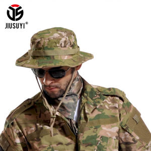 JIUSUYI Bucket Boonie Hats Cap Military Summer Men