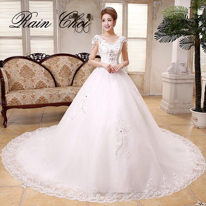 Wedding Dresses 2019 Royal Train Ivory Wedding Dress