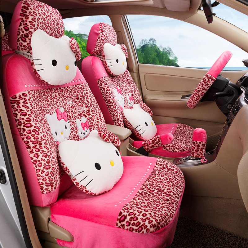 Girls Womens Brand Fashion Cute Hello Kitty Small Velvet Universal Car Seat Cover Set In Automobiles Covers From Motorcycles On