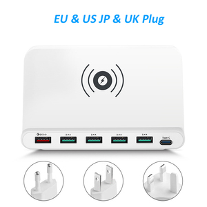 Image 3 - STOD Multi USB Port Wireless Charger 60W Charging Station Quick Charge 3.0 Holder For iPhone X Samsung Huawei Nexus Mi Adapter
