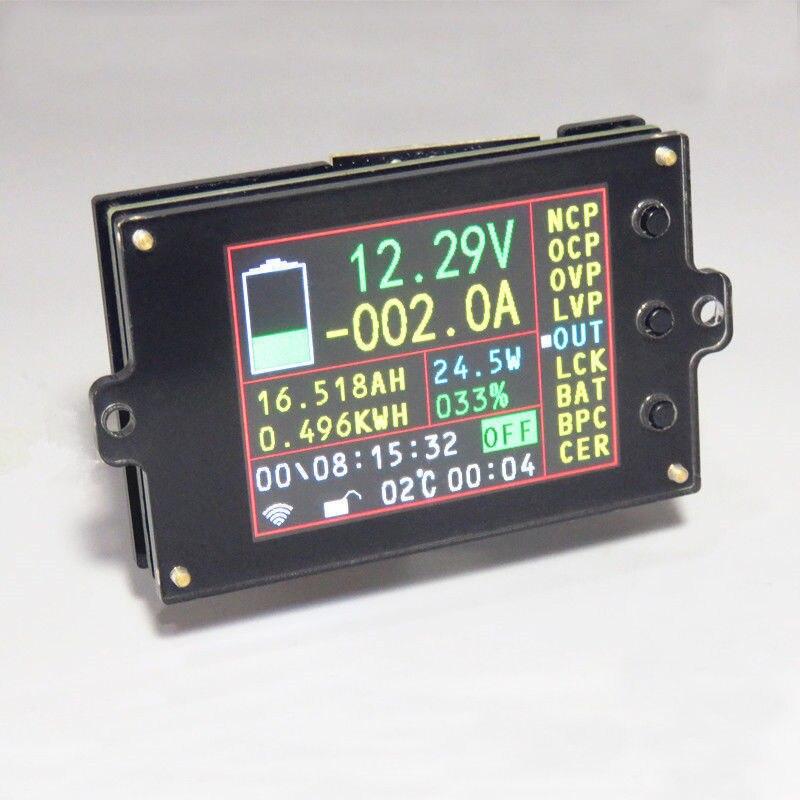Batterie moniteur compteur DC 120 V 200A sans fil voltmètre numérique ampèremètre température puissance Watt Coulomb AH SOC capacité restante