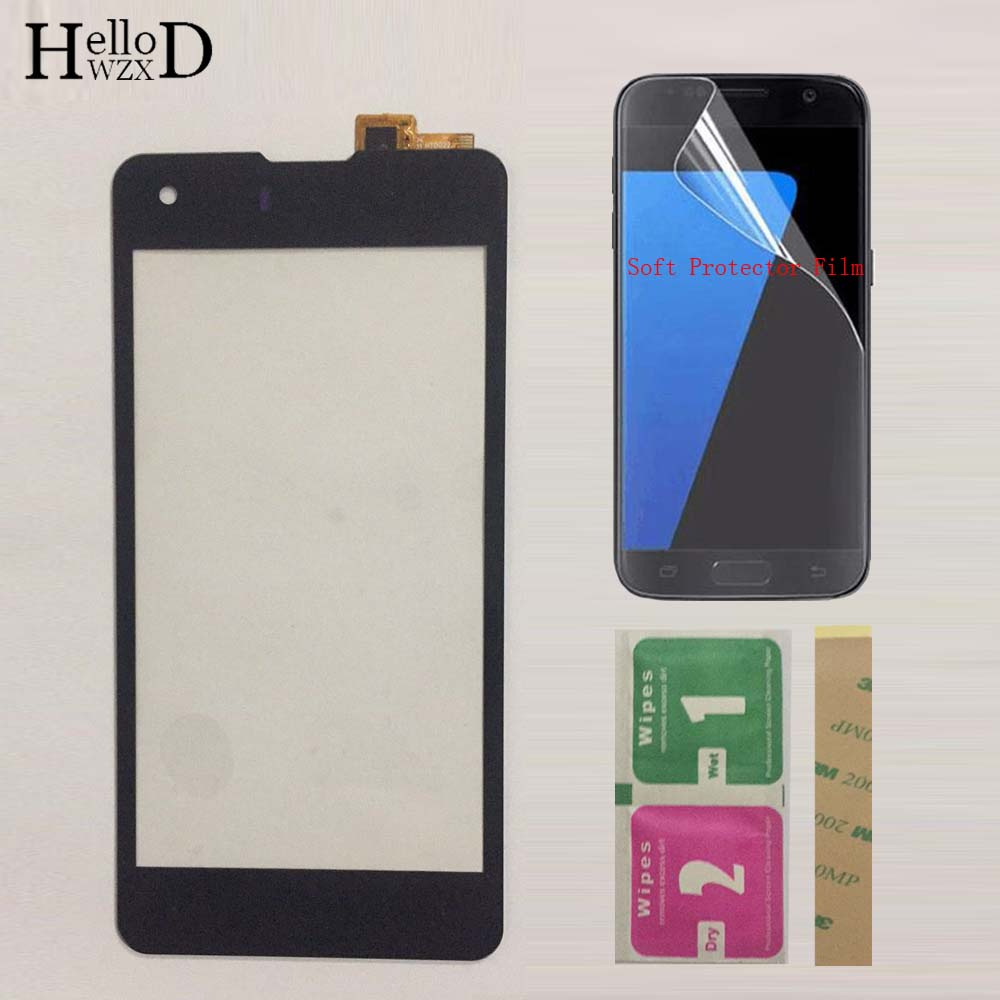 Mobile Touch Panel For Highscreen Omega Prime S Touch Screen TouchScreen Front Glass Digitizer Sensor + Protector Film