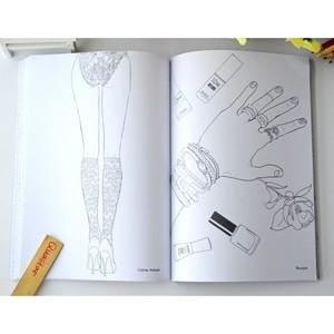 Image 2 - Fashion Girl coloring book for adults antistress Relieve Stress Graffiti Painting Drawing books libros de pintar para adultos