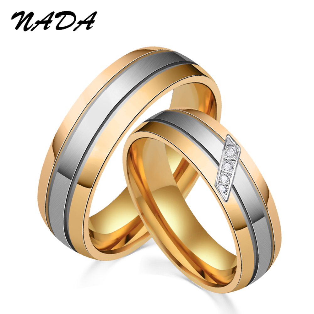 Romantic Bands: 2017 Romantic Wedding Rings For Lover Gold Color Stainless