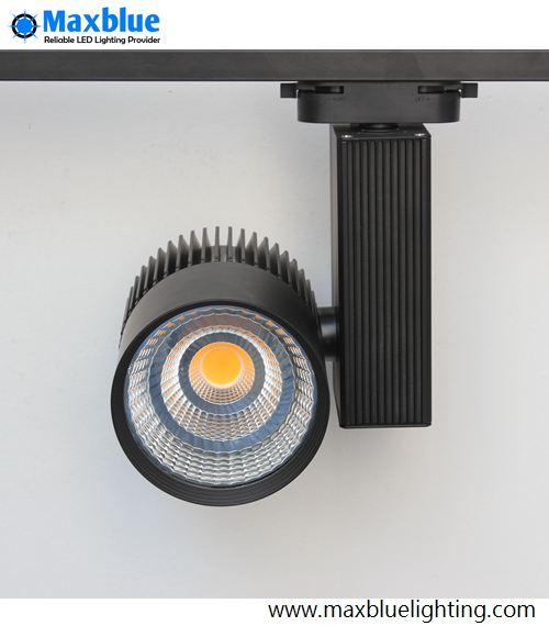 ФОТО 45W Black/White Housing High CRI 80Ra CREE COB LED Track Light