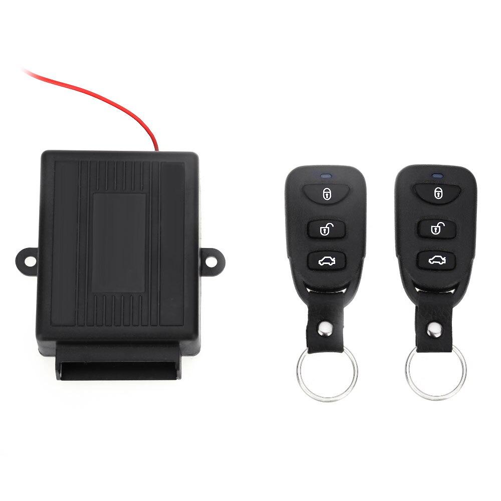 Universal Vehicle Remote Central Kit Door Lock Unlock Window Up Keyless Entry System Car Burglar Alarm 433.92MHz