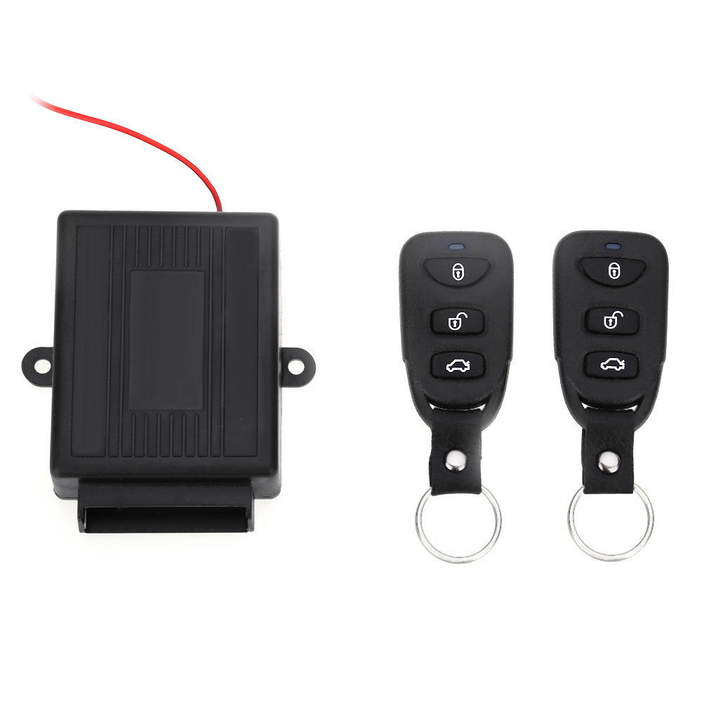 Universal Vehicle Remote Central Kit Door Lock Unlock Window Up Keyless Entry System Car Burglar Alarm 433.92MHz
