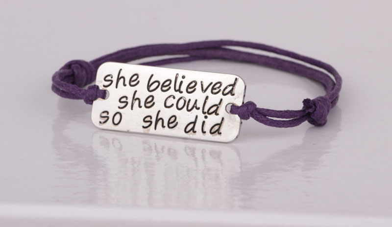 Inspirational Bracelet She Believed Could So Did Hot Ing Handmade Rope Bracelets Jewelry For Women Yp2578 In Charm From