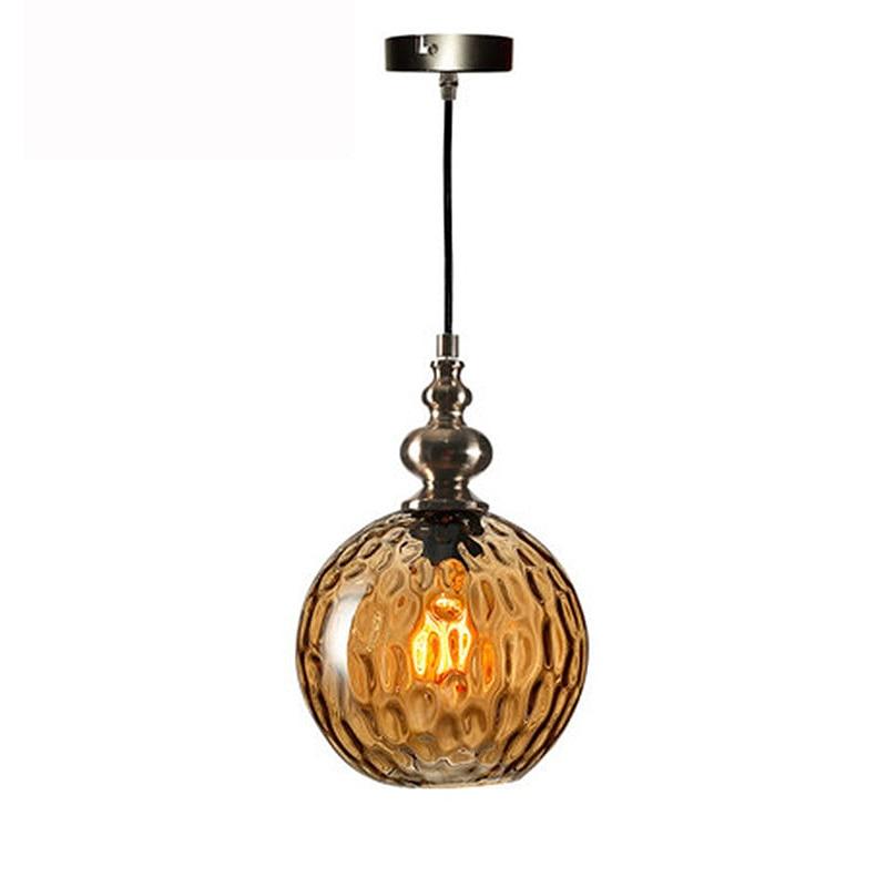 Image 2 - Nordic loft art deco glass pendant light LED E27 vintage modern hanging lamp for bedroom restaurant living room kitchen hotel-in Pendant Lights from Lights & Lighting