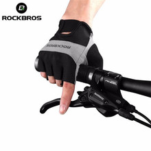 ROCKBROS Men Women Cycling Gloves Half Finger Bike Breathable Mountain Bicycle Sports Clothings