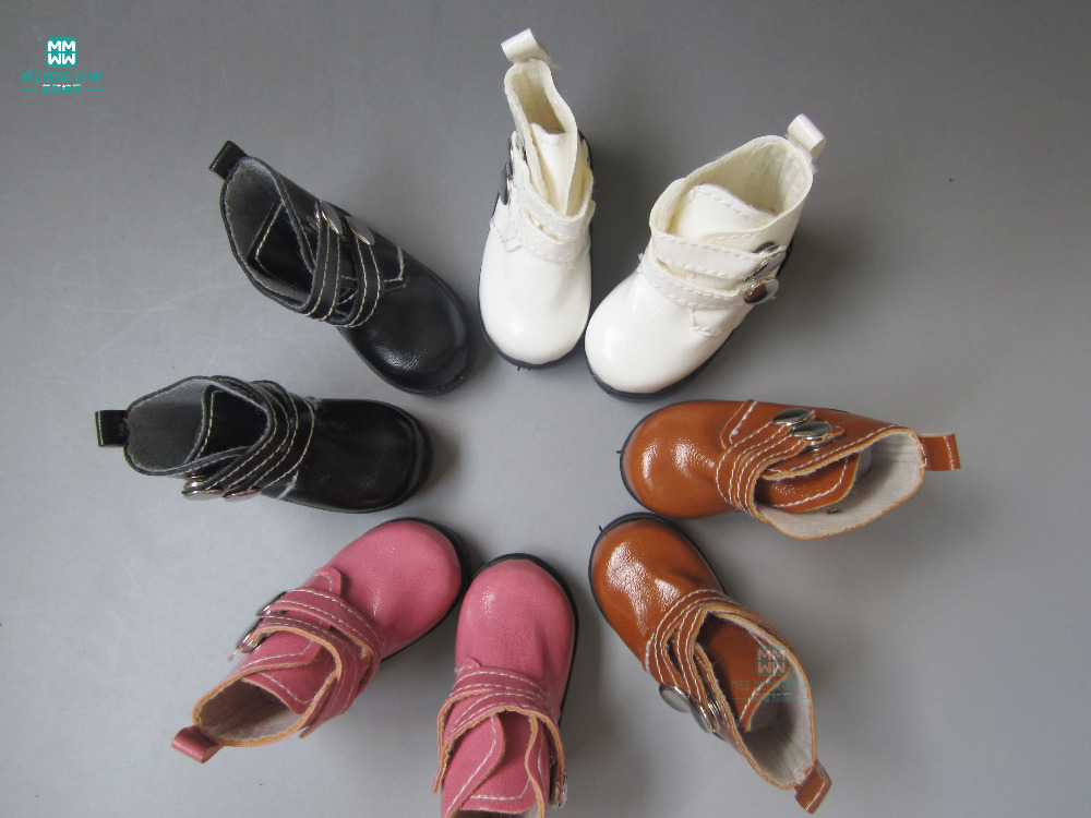 1pair 7.2cm High-top Shoes For Doll Fits 16 Inch Salon Dolls And 1/3 1/4 Bjd Doll Accessories White Brown Pink Black