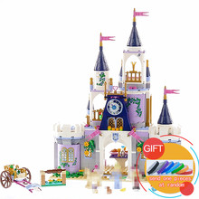 25014 655Pcs Girl Series Cinderella The Dream Castle set building Blocks Compatible with 41154 Toys lepin