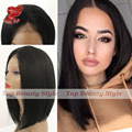 Hot Cheap Synthetic Lace Front Natural Black Short Bob Hair Heat Resistant Wig Synthetic Lace Front Wig Straight Bob for Women