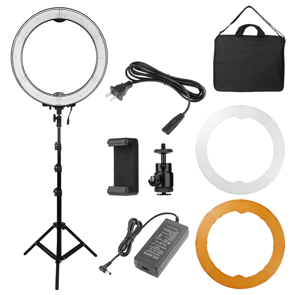 Camera Photo Studio Phone Video 55W 240LED Ring Light 5500K Photography Dimmable Ring Lamp with Tripod Makeup Ring Lamp Hot Sale fotopal led ring light for camera photo studio phone video 1255w 5500k photography dimmable ring lamp with plastic tripod stand