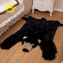 КОРОНА Мягкие натуральные овчинные шерстяные коврики Ковры Медведь для детской комнаты Спальня Гостиная Теплые волос