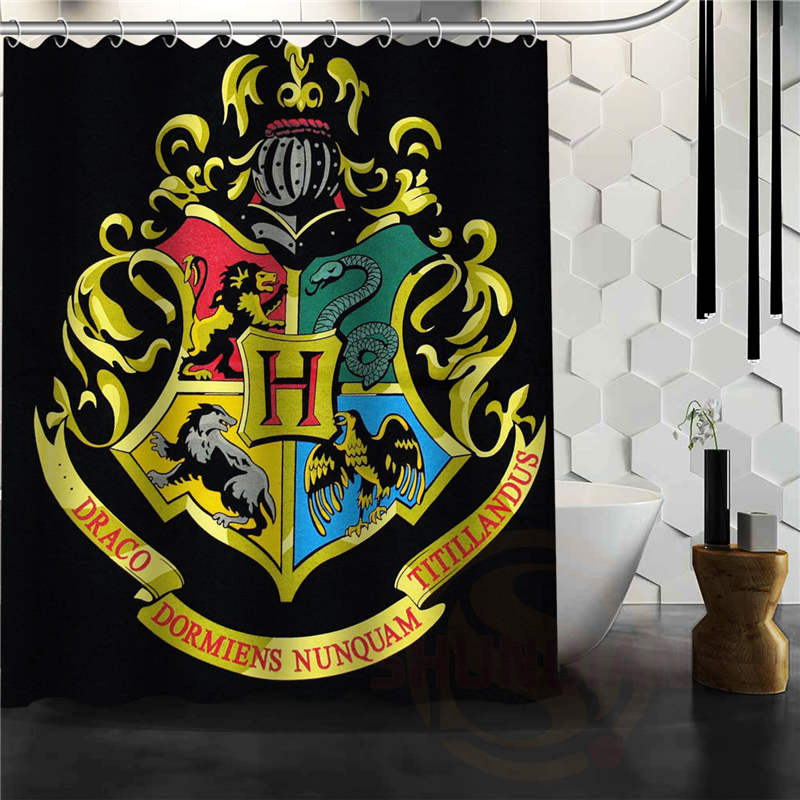 Best Nice Custom Hogwarts Badge Harry Potter Shower Curtain Bath Curtain Waterproof Fabric For Bathroom MORE SIZE W#@9