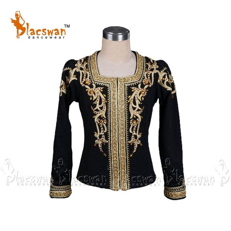 huge discount cad75 432ba US $279.0 |Profesional Maschile Balletto Tunica nera balletto giacca per  Uomo di Danza Classica camicia BT790 balletto Costumi cappotto Vestito-in  ...