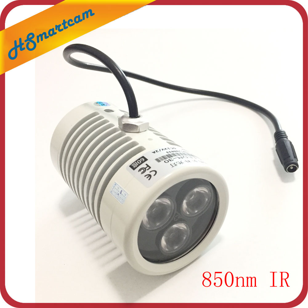 CCTV IR Infrared Lamp 6w 850nm LED Night Vision IR Infrared Illuminator for HD Cameras Outdoor waterproof IP66 60 Degree 3 LED high alert medications