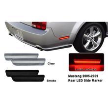 2 шт. для Mustang красный стояночный фонарь светодиодный задний боковой габаритный светильник для Ford Mustang 2005-2009