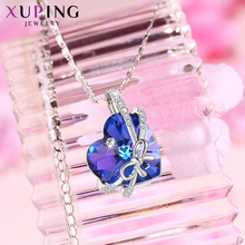 Xuping Vintage Pendantl Necklace Crystals from Swarovski Only Heart for You Christmas  Ladies Gifts M96-40188