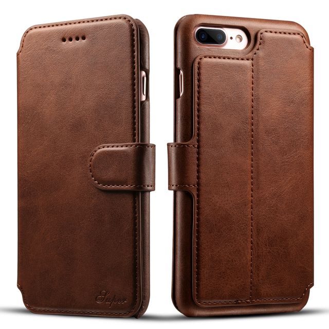 online store 975dd ee48e Luxury Flip Leather Business Bag for iPhone 7 Case Retro Wallet Case ...