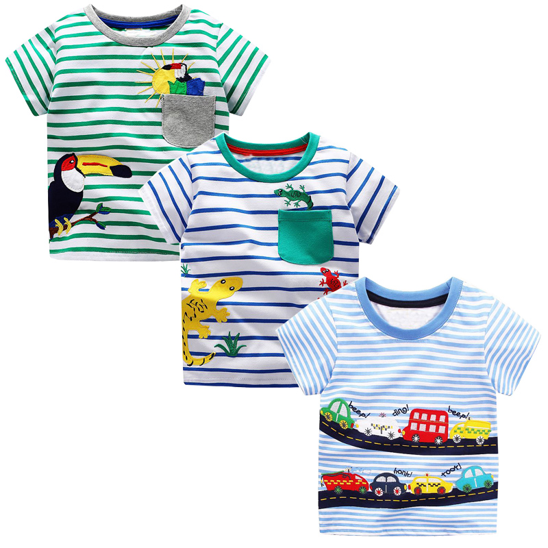 3pcs Toddler Tshirt for Boys Clothes Baby Boy Summer Tops Character Kids Cotton T-shirt Boys Clothing Children T shirts Fille стоимость