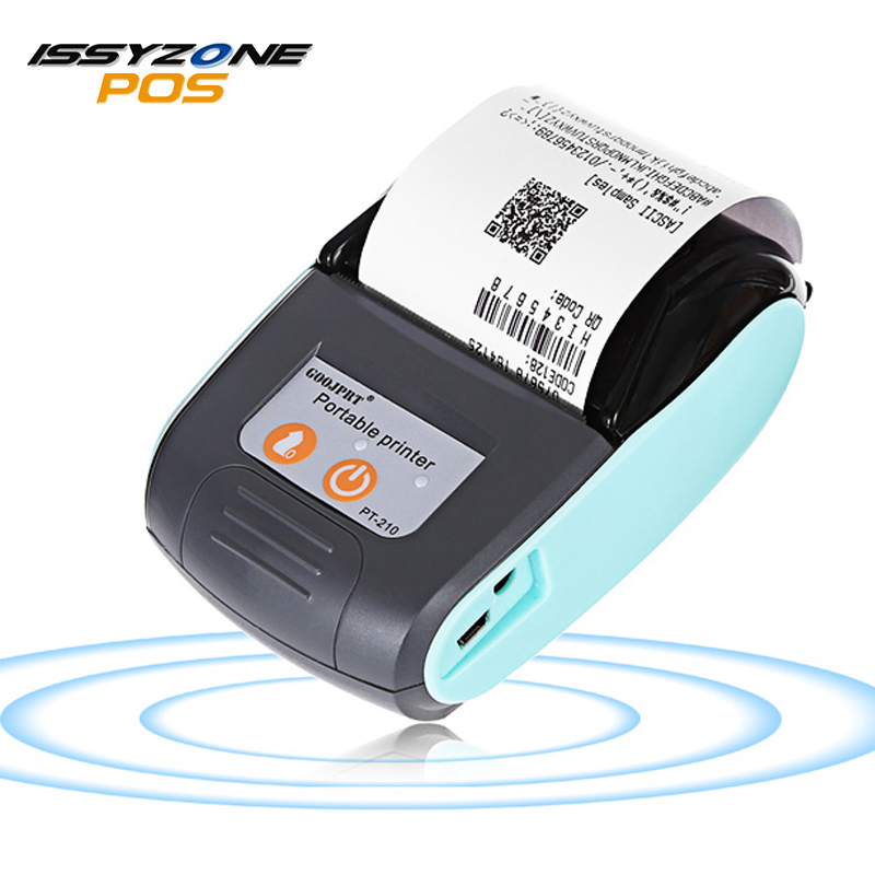 ISSYZONEPOS 58MM Bluetooth Thermal Printer Mini Portable Wireless Receipt Printer for Windows Android iOS IMP026 58mm mini bluetooth printer android thermal printer wireless receipt printer mobile portable small ticket printer