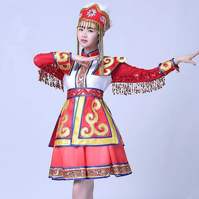28425e9fc chinese national dance costumes dancer clothes for women Tibet dance ...