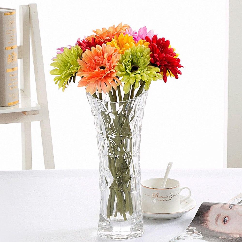barato unidslote diy real touch artificial ramos de flores para la boda del