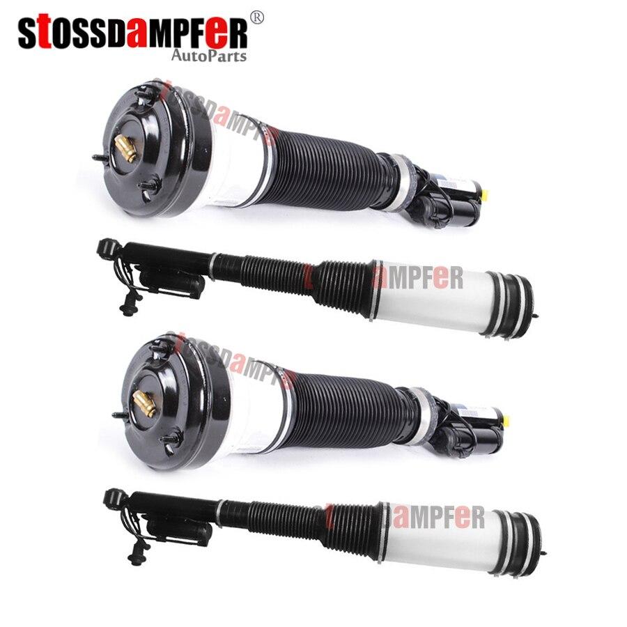 StOSSDaMPFeR 4 шт. Передний Воздушный амортизатор Задний воздушный пружина подходит Mercedes-Benz W220 S-Class 2203202438 2203205013