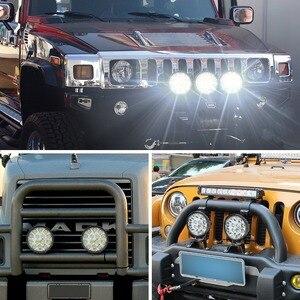 Image 5 - Okeen holofote luz de led quadrado, 4 polegadas, 42w, 48w, barra de luz led para 4x4 offroad atv utv trator para caminhão de motocicleta, luzes para neblina
