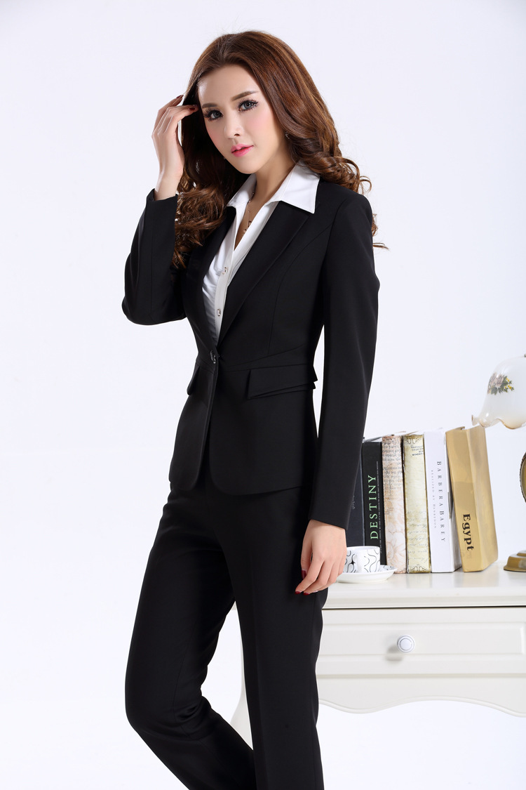 Womens Black Trouser Suit