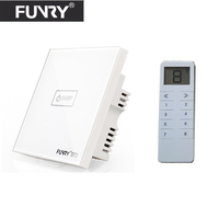 Funry UK Wireless 3 Gang RF433 Light Switch Smart Home Automation Remote Control Touch Panel Switch