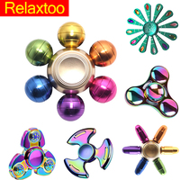 Hot Candy Polar lights Fidget Spinner Hand Metal Figet Spiner Tri Spinners Anti Stress Skinner Toys for Kid Children Adult Child