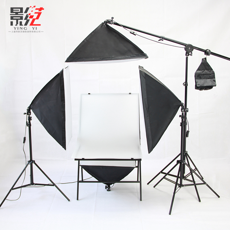 4PCS foto set fotografia stuido foto mesa conjunto única lâmpada equipamento fotográfico estação TOP ILUMINAÇÃO foto conjunto de mesa cd50