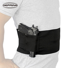 Elastic Belly Band Holster for Concealed Carry with Dual Magazine Pouches Fits Glock Ruger M&P Shield Sig Sauer Beretta 1911