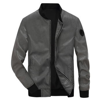 2018 New arrival AFS JEEP faux leather jacket men fashion motorcycle biker mens leather jacket chaqueta moto hombre 4XL