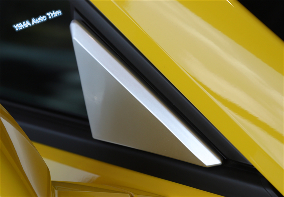 Lapetus For Chevrolet Camaro 2016 2017 2018 ABS Auto Styling Outside Front Door Window Pillar A Triangle Panel Cover Trim 2 Pcs