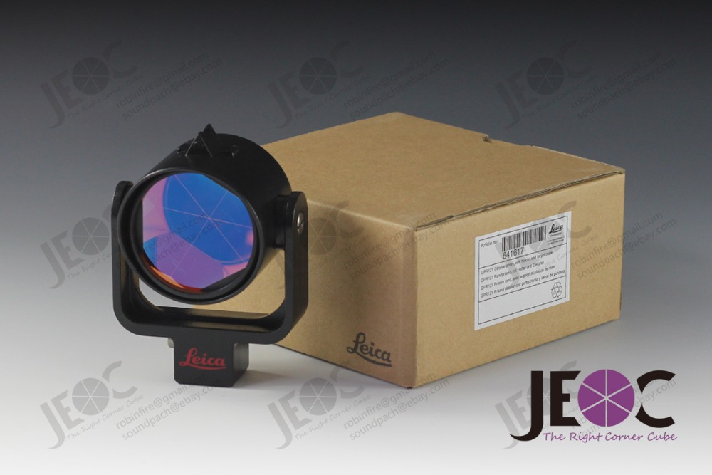Leica Style GPR121 High Accuracy Monitoring Prism Reflector w Aluminum Holder