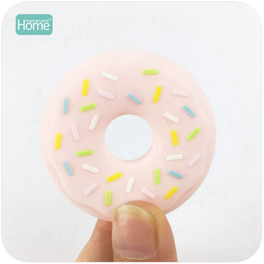 MamimamiHome Baby Accessories 2pc Baby Silicone Ice Cream And Donut Toys Baby Silicone DIY Crafts Teether Accessory Teether Toys